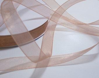 Copper Ribbon, Copper Organza Ribbon 5/8 inch wide x 10 yards, Simply Sheer Asiana Offray Ribbon