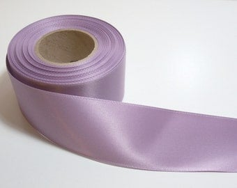 French Lavender Double-Faced Satin Ribbon 1 1/2 inches wide x 4 yards, Purple Ribbon