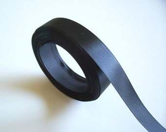 Black Ribbon, Black Double-Faced Satin Ribbon 5/8 inch wide x 10 yards, Offray Black Ribbon