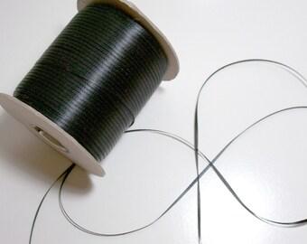 Black Ribbon, Double-faced black satin ribbon 1/8 inch x 10 yards