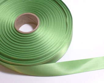 Green Ribbon, Double-Faced Bright Lime Satin Ribbon 7/8 inch wide x 10 yards