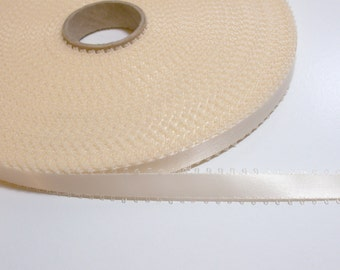 Ivory Ribbon, Double-faced antique ivory satin picot edge ribbon 3/8 inch wide x 9 yards