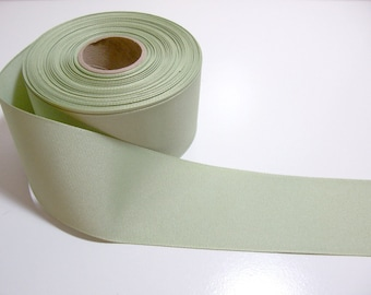 Wide Green Ribbon, Celery Green Grosgrain Ribbon 2 1/4 inches wide x 10 yards