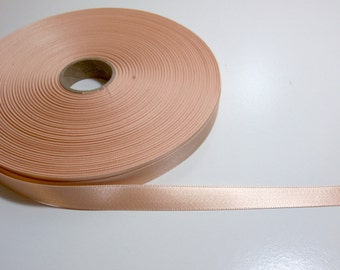 Light Orange Ribbon, Double-Sided Frosted Peach Satin Ribbon 5/8 inch wide x 10 yards, SECOND QUALITY FLAWED