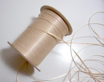 Beige satin ribbon 1/8 inch, Weddings, Thin Ribbon, Offray Tan Double-Face Satin Ribbon x 10 yards