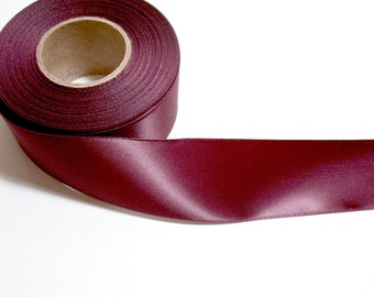 Wine Satin Ribbon, Offray Wine Single-Face Satin Ribbon 1 1/2 Inches Wide X 7 Yards