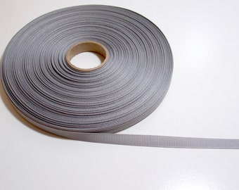 Gray Ribbon, Light Gray Grosgrain Ribbon 3/8 inch wide x 10 yards, SECOND QUALITY FLAWED