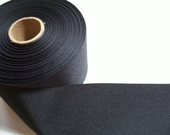 Wide Black Ribbon, Black Grosgrain Ribbon 3 inches wide x 3 yards