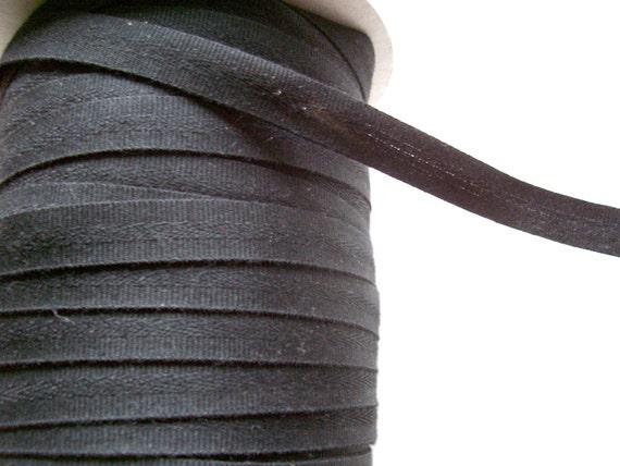 Black Twill Tape, Heavy Duty Black Twill Tape 3/4 inch wide x 5 yards