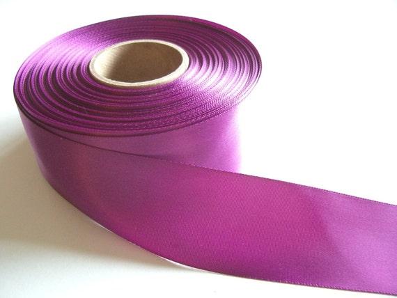 Raspberry Satin Ribbon: Single-sided dark raspberry satin ribbon 1 1/2 inches wide x 1 yard