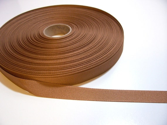 Brown Ribbon, Terra Cotta Brown Grosgrain Ribbon 5/8 inch wide x 37 yards, 50% Off Sale