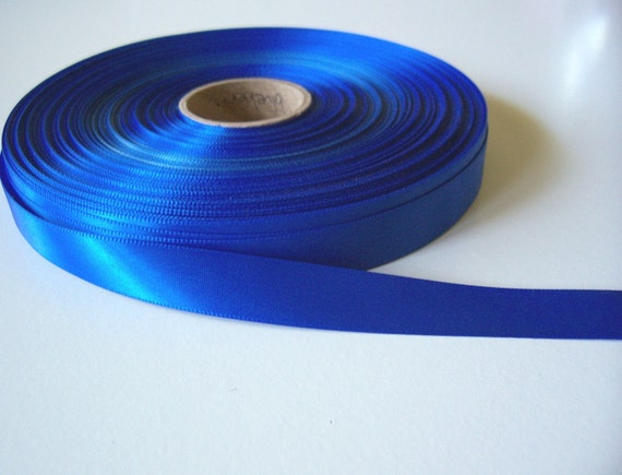 Single-sided blueberry satin ribbon 5/8 inch x 5 yards