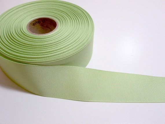 Pistachio Green Grosgrain Ribbon 1 1/2 inches wide x 4 yards CLEARANCE