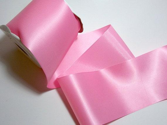 4 Inch Satin Ribbon Cotton Candy Pink Single-Faced  x 1 yard