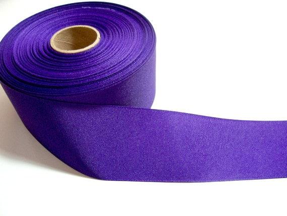 Wide Purple Ribbon, Purple Grosgrain Ribbon 2 1/4 inches wide x 3 yards