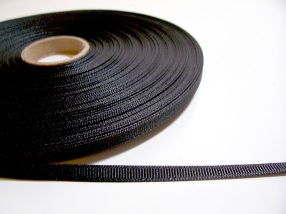 Black Grosgrain Ribbon 1/4 inch wide x 20 yards
