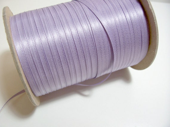 Purple Ribbon, Double-Sided Thistle Purple Satin Ribbon 1/8 inch wide x 10 yards