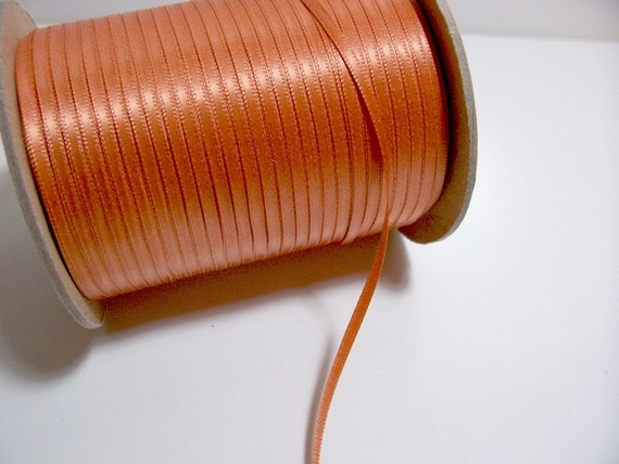 RESERVED FOR MM44336 Double-Sided Burnt Orange Satin Ribbon 1/8 inch wide