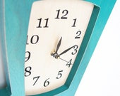 The Simon Says wall clock -  STAINED Turquoise