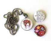 Hairstylist Gift, Hairstylist Necklace, Hairstylist Jewelry, Locket Necklace for Hairstylist, Gift for Her, 3 in 1, Holds Picture, Polarity