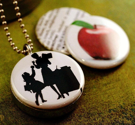 Unique Teacher Gift, Jewelry for Teacher, Teacher Locket Necklace, Unique Teacher Gift - 3 Necklaces in 1, Holds a Note Inside, SALE PRICE