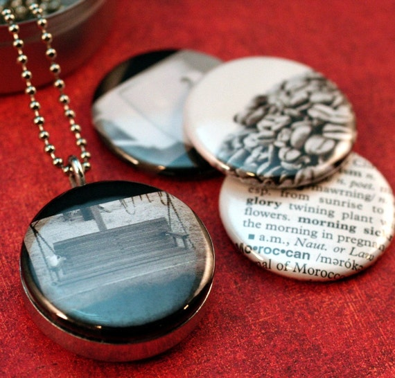 THINGS THAT ARE MADE Morning Recycled Magnetic LOCKET SET By Polarity