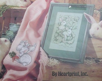 Bunny Counted Cross Stitch Pattern Les Lapins