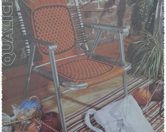 Vintage Qualicraft Nylotex Weave Lawn Chair Instruction Book
