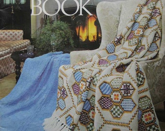 The Afghan Book Crochet Pattern Book by Leisure Arts