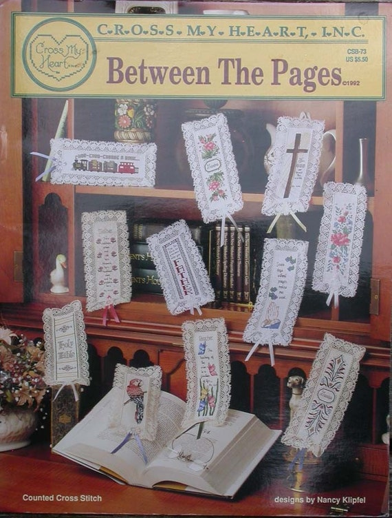 VINTAGE COUNTED CROSS STITCH  RELIGIOUS BOOKMARKS PATTERN