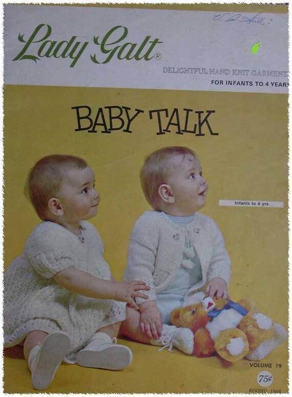 Vintage Baby Knitting Pattern Books : Vintage Lady Galt Baby Knitting Pattern Book