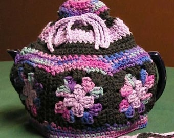 Granny Square Tea Cozy Crochet Pattern - PDF Download Only - Wee Designs