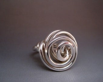 Sterling Silver Stacked Chaos Ring