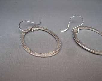 Textured Circle Pendant Earrings