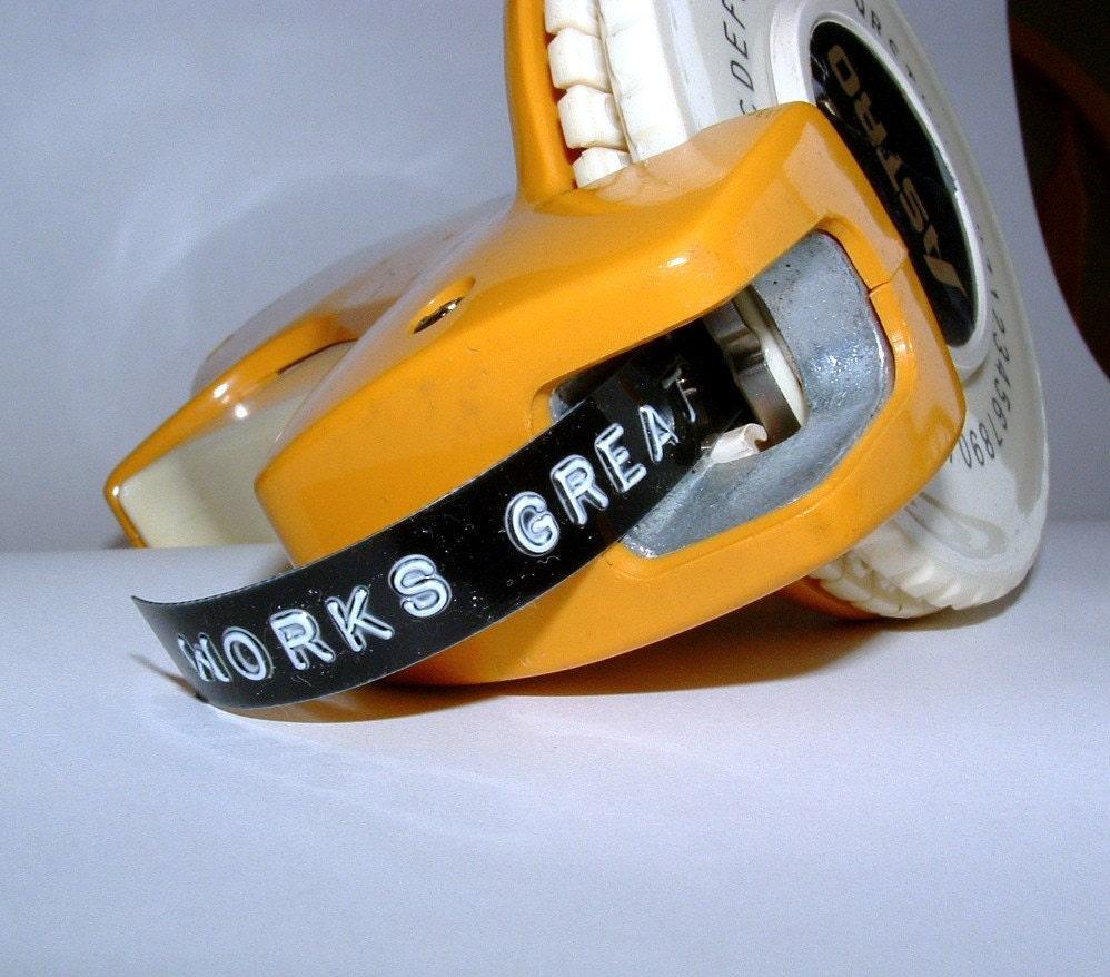 Vintage Astro Dymo Label Maker