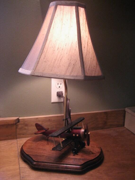 Handmade Vintage Style Airplane Lamp
