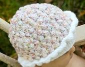 Pink Girls Cupcake Baby Knit Hat 0-6 Months