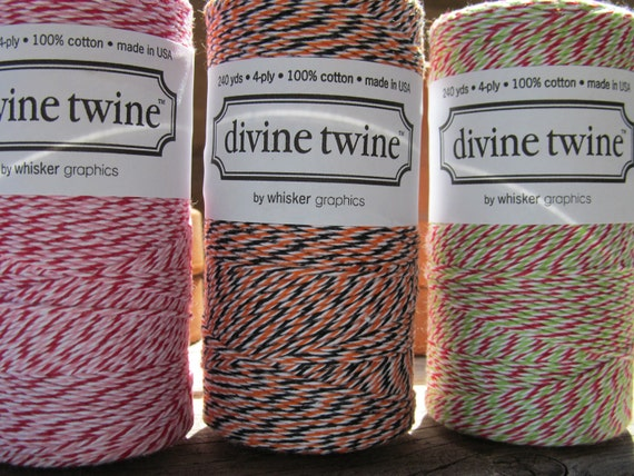 ON SALE Divine Twine Full Spool Your Choice of Color 15 Yummy Colors to Choose From Halloween Christmas Holiday Birthdays Celebrations