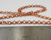 Copper rolo chain 5 feet