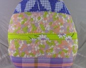 Recycled Art Pillow EGG Made from Reclaimed Fabric Eco-Friendly Filling
