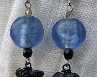 Blue Deep - handmade earrings FREE SHIPPING U.S.A.
