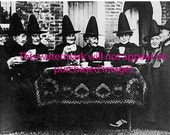 Old Vintage Antique1800s  WITCHES BREW Tea PARTY Photo Reprint