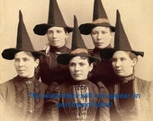 Old VINTAGE Antique WITCHES  Photo Reprint