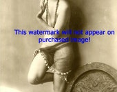 Old VINTAGE Antique FRENCH NUDE Draped SKIRT Photo REPRINT ...Mature