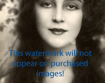 EXOTIC Long HAIR MAIDEN Vintage Photo Reprint