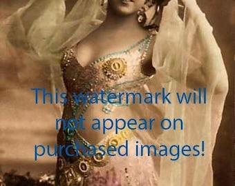 Old VINTAGE Antique 1920s BELLY DANCER Photo Reprint
