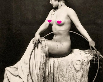 Old Vintage Antique FRENCH NUDE Photo Reprint...MATURE