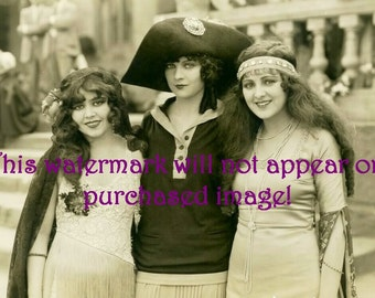 Old Vintage Antique Beautiful Flapper Starlets Photo Reprint
