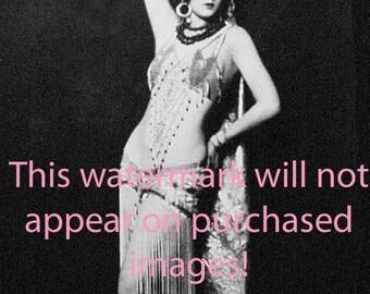 Old VINTAGE Antique BELLY DANCER Photo Reprint