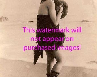 SWIMSUIT SIREN Vintage Photo Reprint